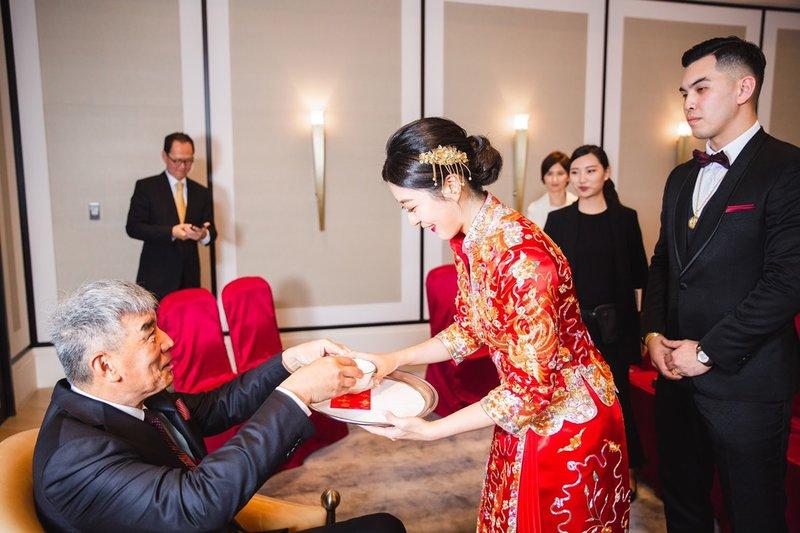 安以軒親妹妹婚宴指定造型~訂婚龍鳳掛造型