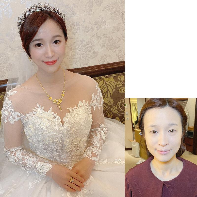 韓系清透底妝,單眼皮自然放大眼神妝感^^