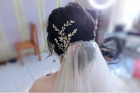 黑髮新娘編髮