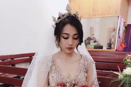 教堂儀式白紗造型