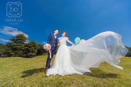 婚紗照-草