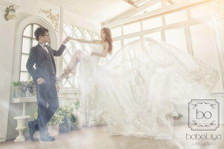 婚紗照-飄浮
