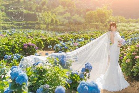 婚紗照-繡球花