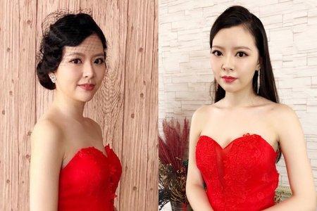 同件禮服不同髮型就能呈現不同感覺