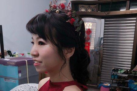 朱朱新娘 ❤️文定單妝髮 #紅禮服#低馬尾