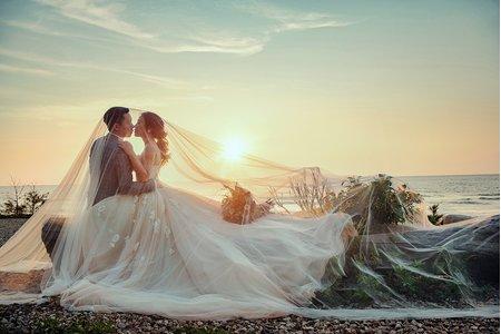 韓風棚拍|生活故事|海邊夕陽