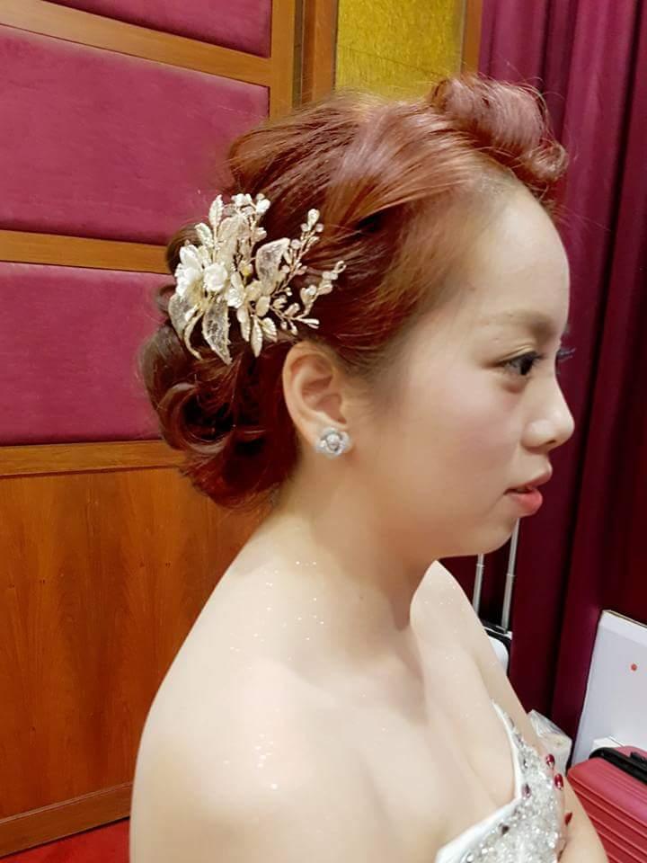 新娘婚禮造型服務詢問後直接下定+贈媽媽髮作品