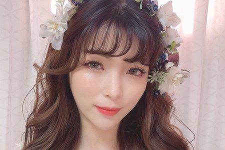 日韓系自然輕透妝感 編髮甜美 輕線條造型
