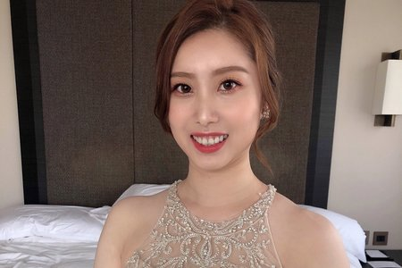 新娘精選皇冠盤髮 韓系自然妝感
