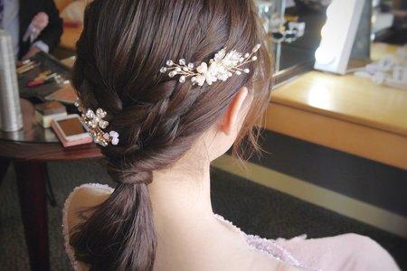婚宴現場--韓系編髮