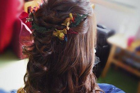 乾燥花編髮