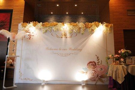 白金大理石-加高加大背板婚禮佈置