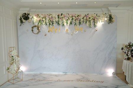 純淨大理石-加高加大背板婚禮佈置
