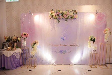 夢中婚禮-加大背板婚禮佈置
