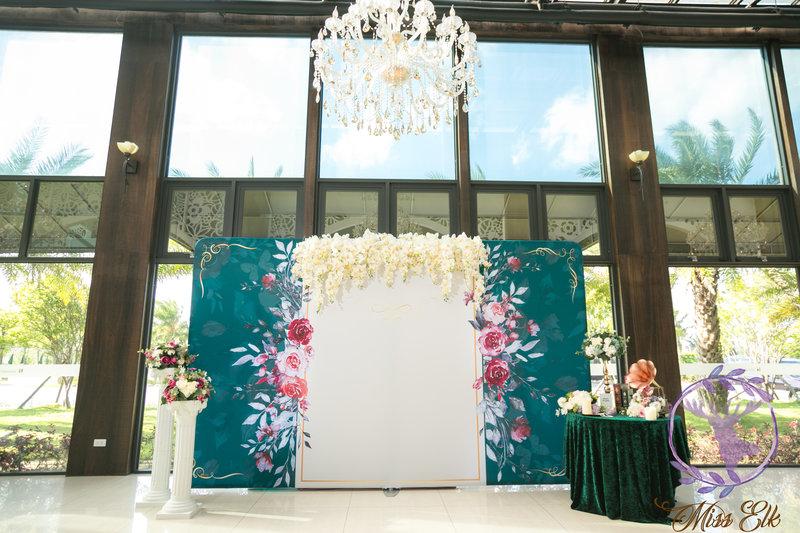 大型背板-婚禮佈置作品