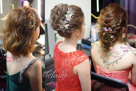 短髮新娘造型