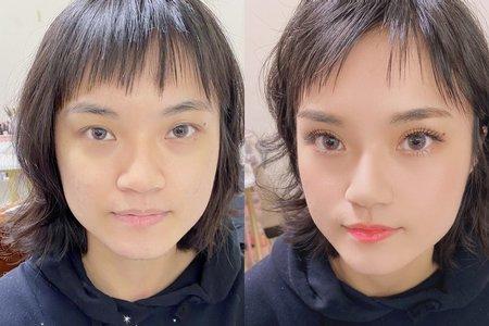 妝前 vs 妝後