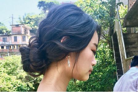 浪漫優雅低盤髮