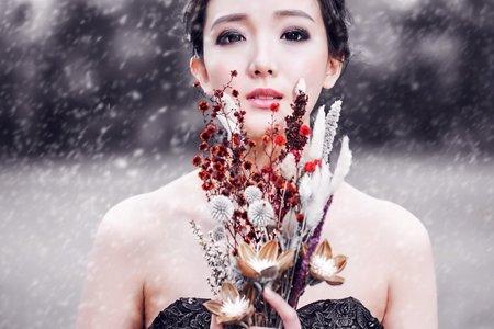 婚紗作品-冰雪裡的華麗