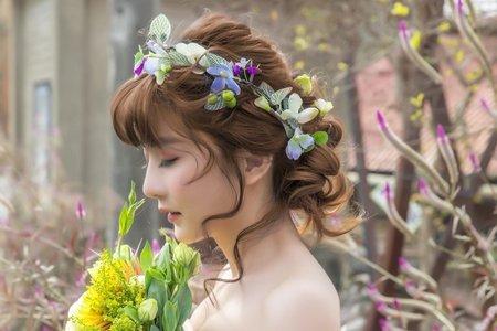 婚紗作品-花叢婚禮