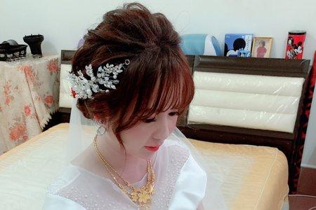 婚宴髮型作品/線條低盤髮