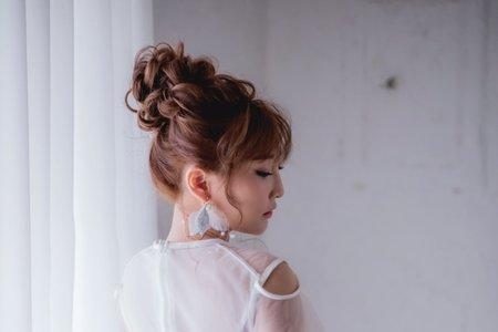 日系甜美高花苞髮型