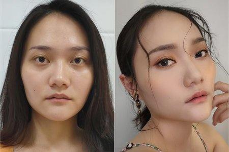 妝前妝後--倩。彩妝世界 Crazy About Makeup