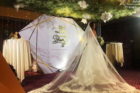 婚禮背板鮮花藝設計