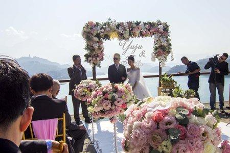 涵碧樓證婚區花藝布置
