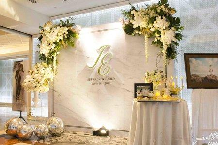 林酒店海洋廳-大理石雙角花藝