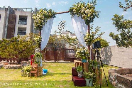 北斗庭園花藝拱門
