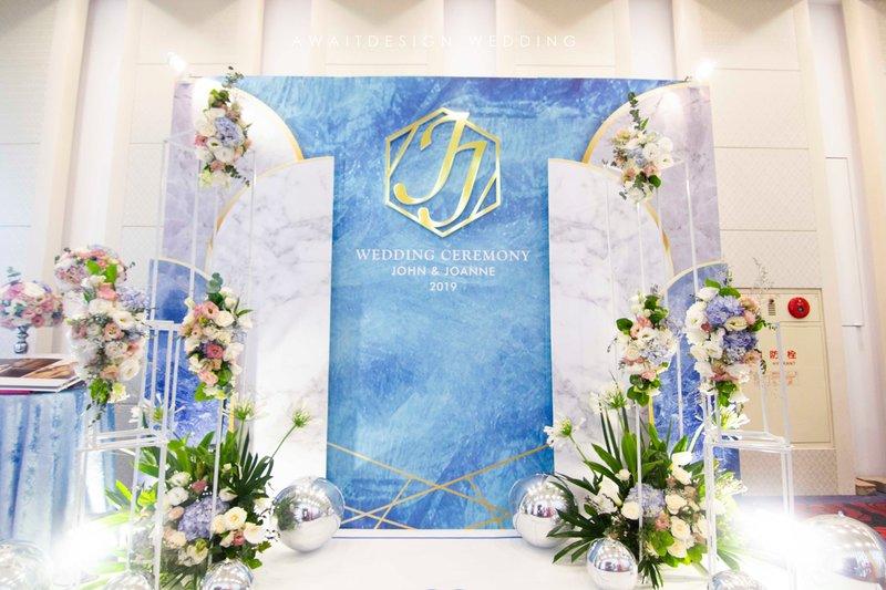 主題色,經典藍,PANTONE,婚禮佈置