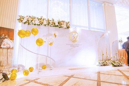 2019.06.02林酒店國際廳鮮花藝背板佈置