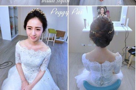 短髮造型新娘♪(´ε` )