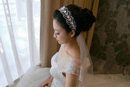 美麗新娘花苞頭