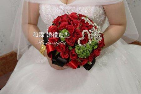 歐式玫瑰珠寶捧花