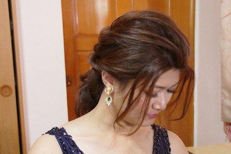 歐式典雅低盤髮
