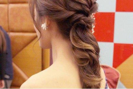 韓式低馬尾編髮