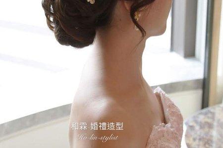 日式高雅低盤髮