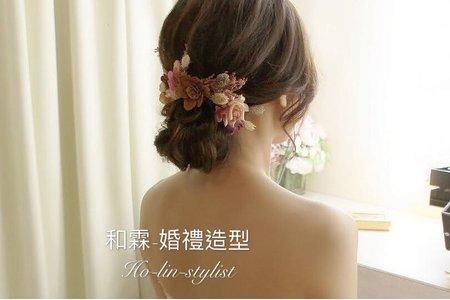 乾燥花-盤髮