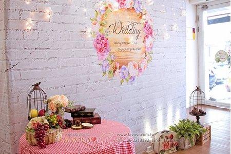 婚禮布置DIY背板道具出租