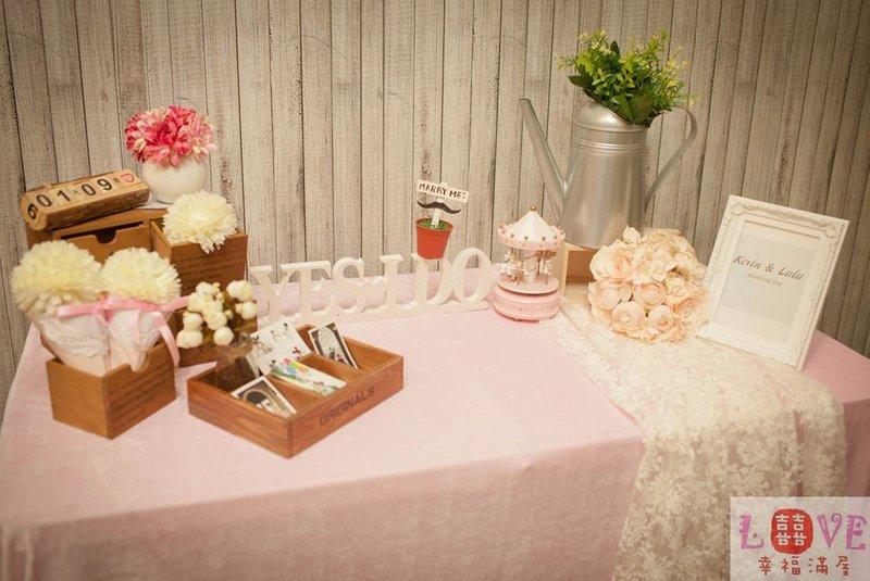 第三號佈置桌-粉紅Zakka風
