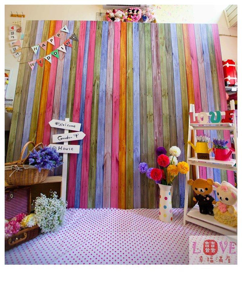 第5號背板-彩虹甜美鄉村風