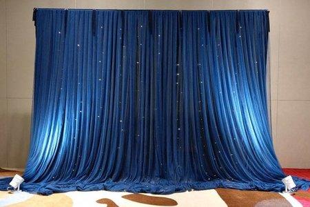 17號布幔套餐-深藍星空款(寬3公尺 可調整尺吋)