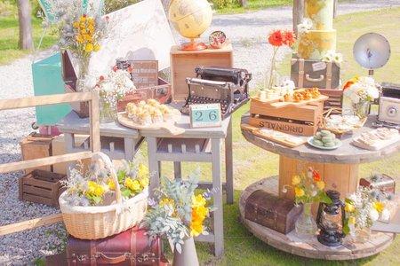 戶外婚禮野餐趣佈置