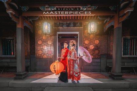 中式.風格婚紗 |Coolmin + Vic|林家花園
