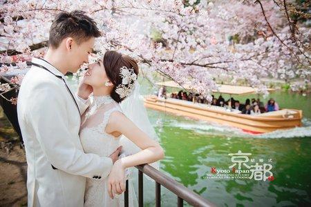 海外婚紗 │ 京都櫻花季婚紗