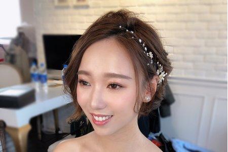 Lady.M化妝時間_短髮新娘造型