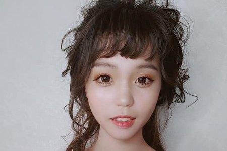 短髮新娘造型 ~無縫接髮