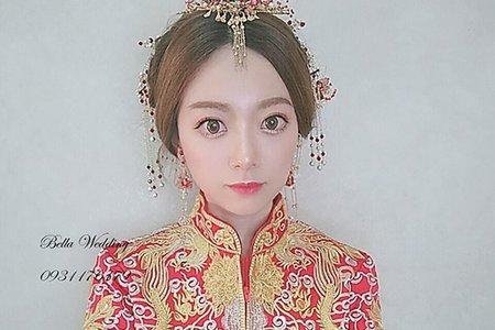 中式龍鳳掛袍造型